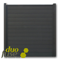 Duofuse | Tand- en groefscherm | 180 x 195cm  | Graphite Black