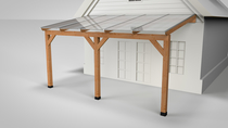 Westwood | Douglas Terrasoverkapping | Opaal | 306x250 | Muuraanbouw