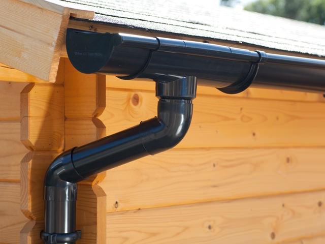 S-Lon | PVC Dakgoot Zadeldak EXTRA100 | Zwart | Verlengstuk 175 cm