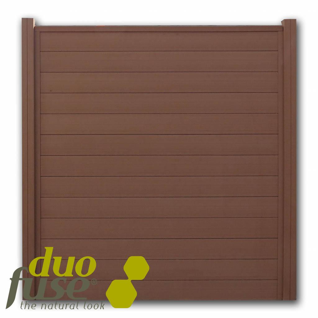 Duofuse | Tand- en groefscherm | 200 x 180cm | Tropical Brown