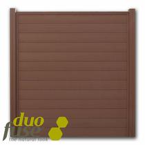 Duofuse | Tand- en groefscherm | 200 x 195cm  | Tropical Brown
