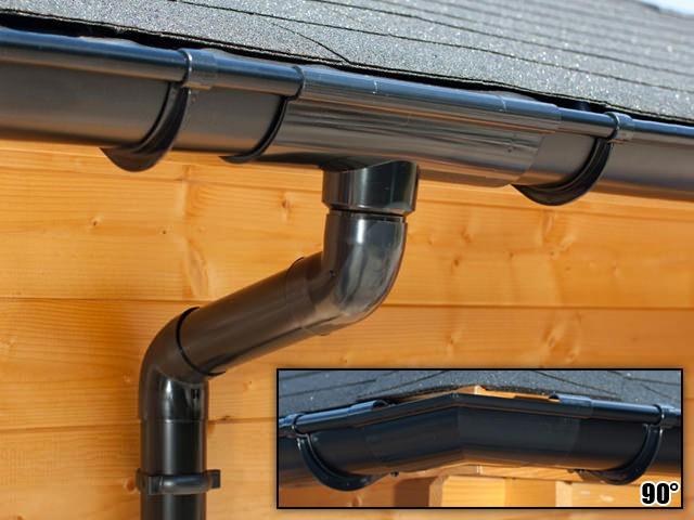 S-Lon | PVC Dakgoot Vierhoekig dak EXTRA100 | Zwart | 17.5-21 m