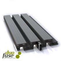 Duofuse | Lamellenafsluiting plank | 200cm  | Graphite Black