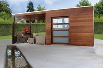 Gardival | Tuinhuis Box Iroko Tokyo E 400x200 met luifel 200 cm