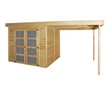 Gardenas | Blokhut Box L geimpregneerd | 240x240 cm