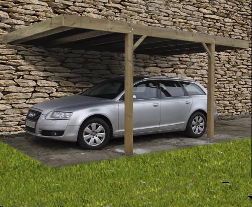 Gardenas | Carport Modern aanbouw | 300x500 cm