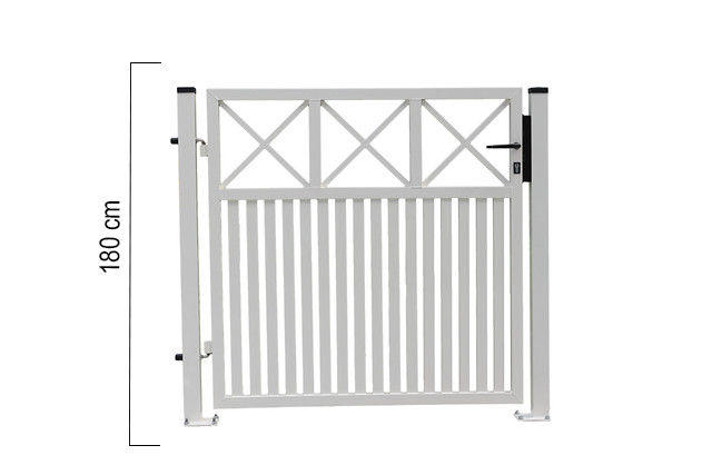 Giardino   Capri   enkele poort   180x125cm   RAL9010