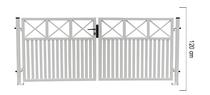 Giardino | Capri | dubbele poort | 300x120cm | RAL9010