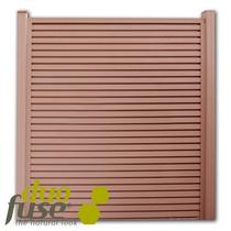 Duofuse   Lamellenafsluiting-scherm   200 x 200cm    Tropical Brown