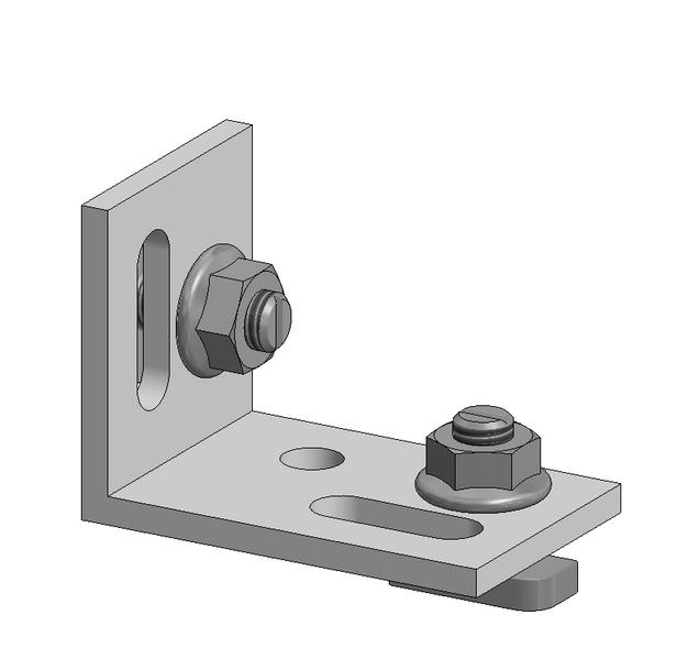 Aslon | Multihoek | 60 x 40 x 4 mm | incl 2 hamerkopbouten en 2 kraagkartelmoeren