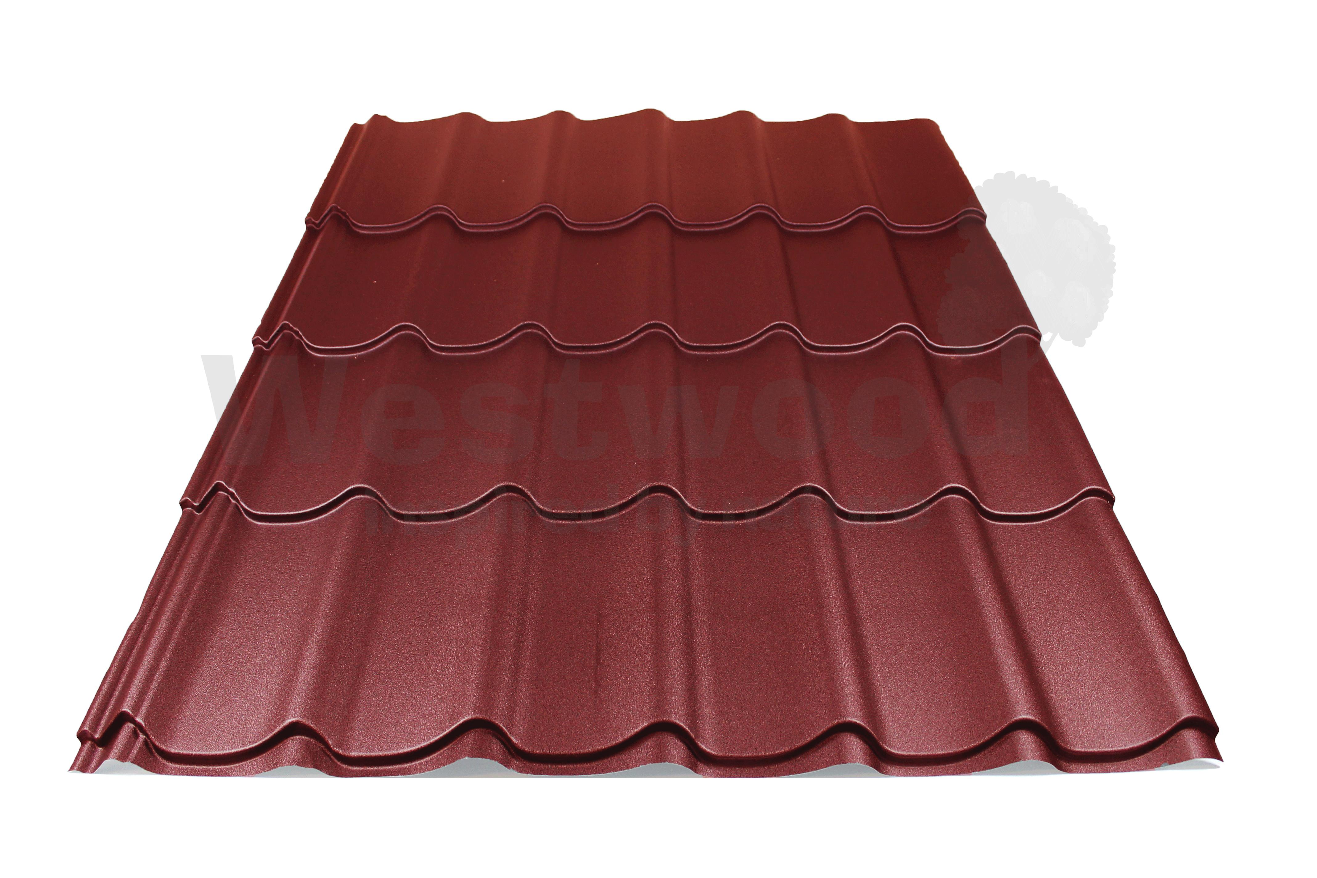 Arcelor Mittal | Dakpanplaat mat | Luna | Rood | 1800 mm