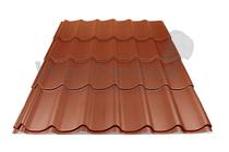Arcelor Mittal | Dakpanplaat mat | Luna | Koper bruin | 450 mm
