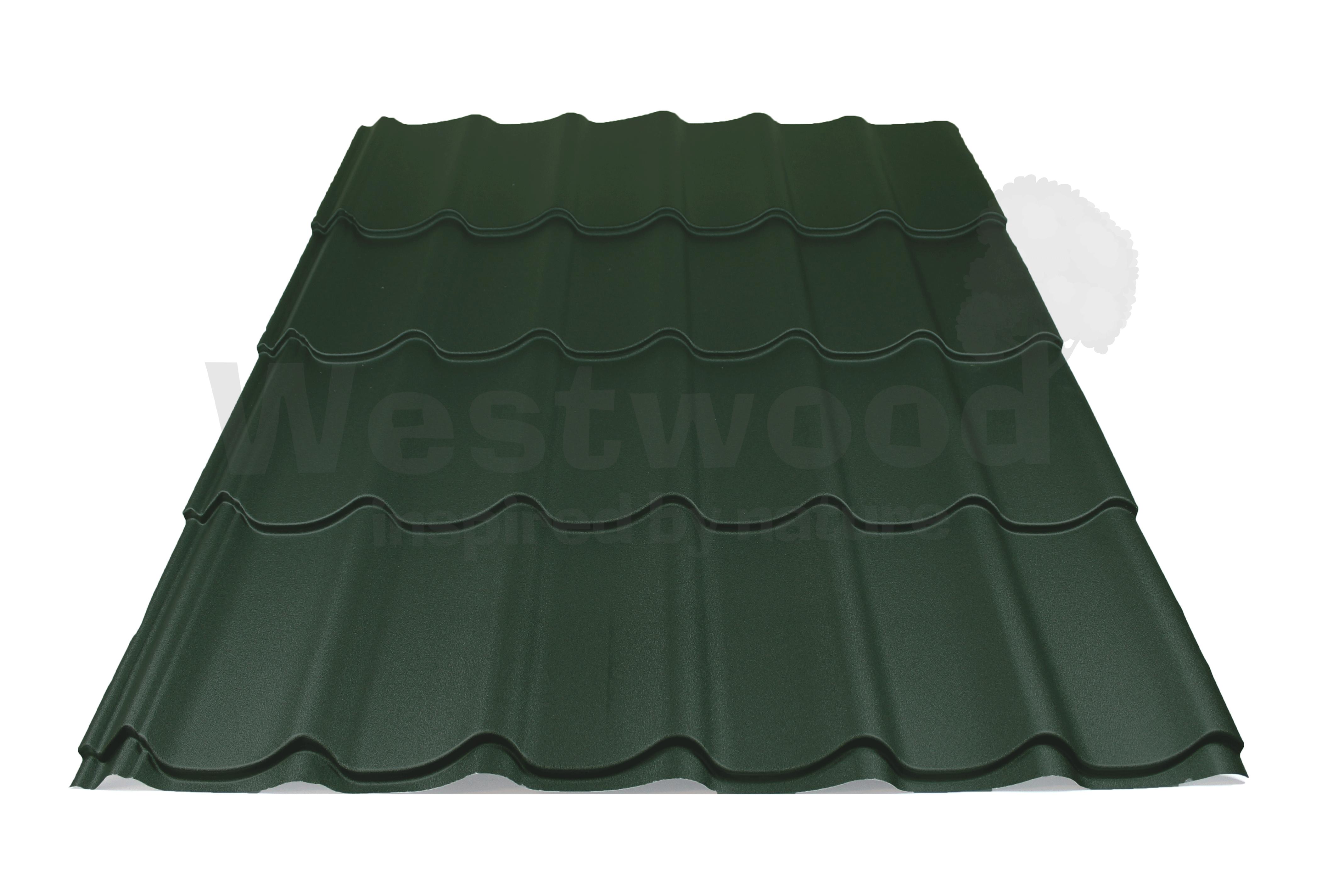 Arcelor Mittal | Dakpanplaat mat | Luna | Groen | 1500 mm