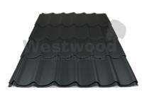 Arcelor Mittal | Dakpanplaat mat | Luna | Zwart | 450 mm