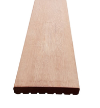Vlonderplank | Keruing | Glad/ribbel | 25 x 145 mm | 490 cm