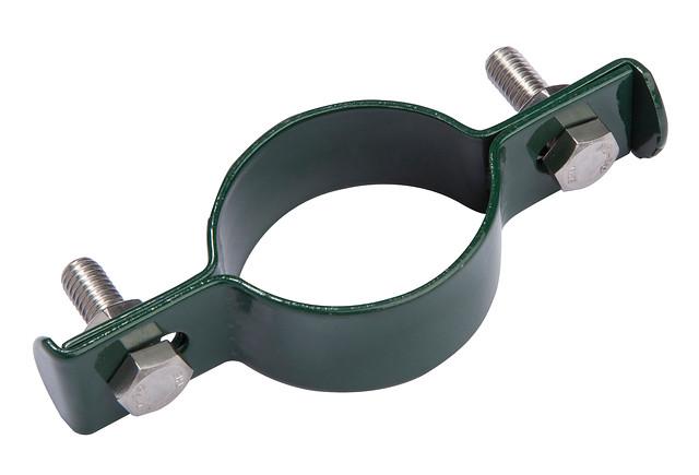 Giardino | Middenklem metaal | Ronde paal | 48mm | RAL6005 Groen
