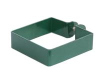 Giardino | Eindklem metaal | Vierkante paal | 80x80mm | RAL6005 Groen