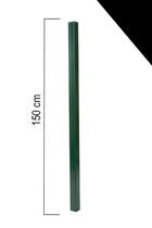 Giardino | Vierkante paal | 60x60mm | 150cm | RAL9005 Zwart