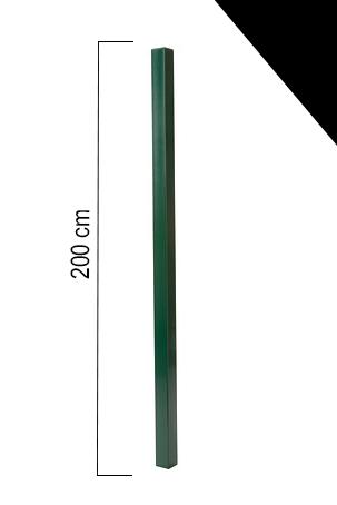 Image of Giardino | Vierkante paal | 60x60mm | 200cm | RAL9005 Zwart