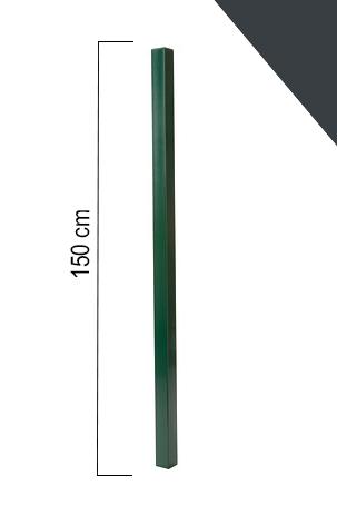 Giardino | Vierkante paal | 60x60mm | 150cm | RAL7016 antraciet