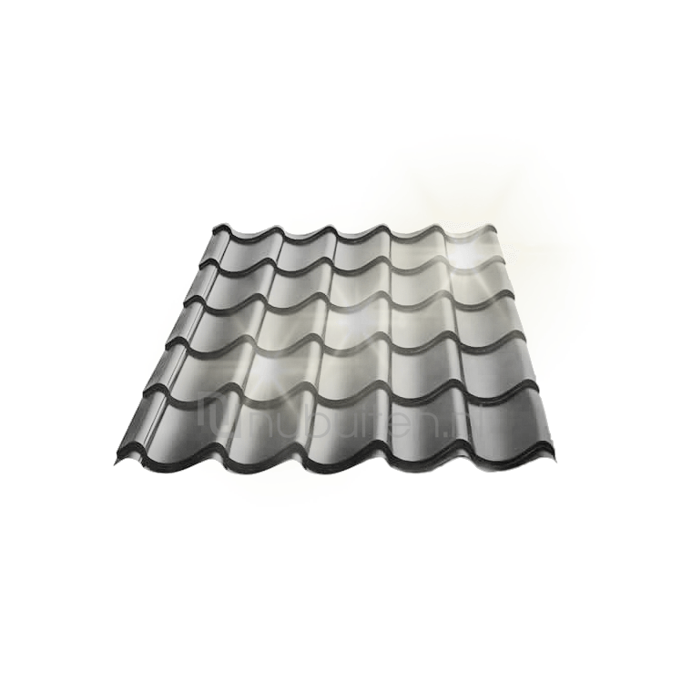 Tata Steel | Dakpanplaat glans | Kingstile | Antraciet | 450 mm