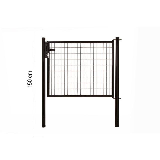 Giardino | Napoli enkele poort | 150cm | RAL9005 Zwart