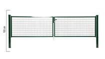 Giardino | Napoli dubbele poort | 100cm | RAL6005 Groen