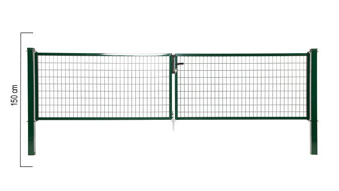 Giardino   Napoli dubbele poort   150cm   RAL6005 Groen