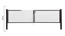 Giardino | Napoli dubbele poort | 100cm | RAL9005 Zwart