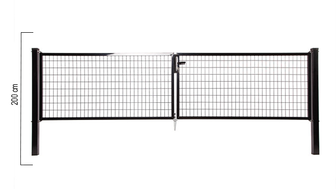 Giardino | Napoli dubbele poort | 200cm | RAL9005 Zwart
