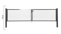 Giardino | Napoli dubbele poort | 100cm | RAL7016 Antraciet