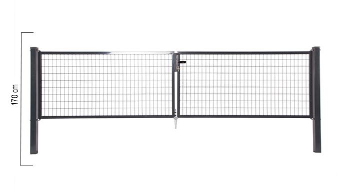 Giardino   Napoli dubbele poort   170cm   RAL7016 Antraciet