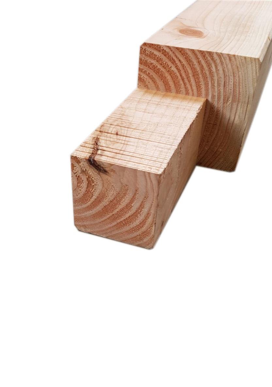 Douglas hoekpaal   150 x 150 mm   250 cm met keep