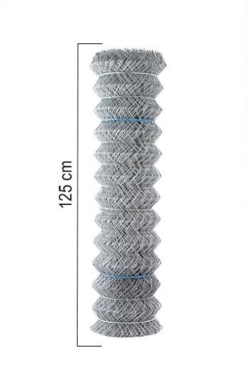 Giardino | Vierkantvlechtwerk | Verzinkt | 125cm