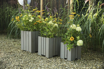 Woodvision | Hardhouten bloembak 40 x 40 x 45 cm | Taupe