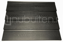 Tata Steel | Wandprofiel Holland Rabat Woodgrain | Zwart | 2000 mm