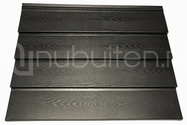 Tata Steel Wandprofiel Holland Rabat Woodgrain Zwart 3000 mm