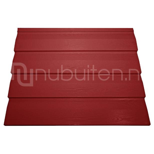 Tata Steel | Wandprofiel Finish Rabat Woodgrain | Rood | 5000 mm