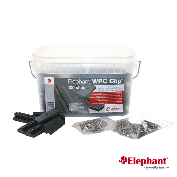 Elephant | Polymer Clips | Antraciet