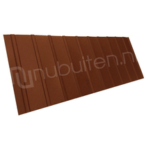 Arcelor Mittal | Damwandplaat mat | T6 dak | Koper bruin | 450 mm