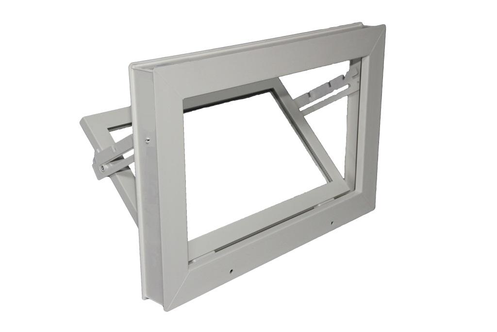 Kunststof raam met flens 100 x 100