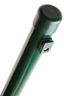 Giardino Ronde paal met spandraadhouders 40mm 260cm RAL6005 Groen