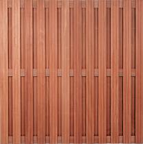 Hardhouten plankenscherm Keruing | 23-planks | 10 mm fijne ribbel