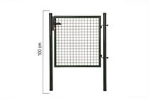 Giardino | Enkele poort | 100cm | RAL6005 Groen