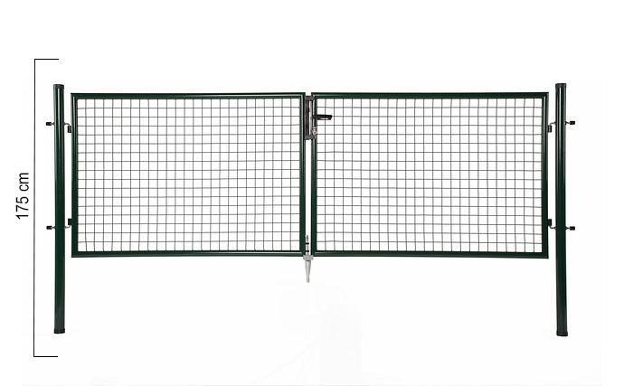 Giardino | Dubbele poort | 175cm | RAL6005 Groen