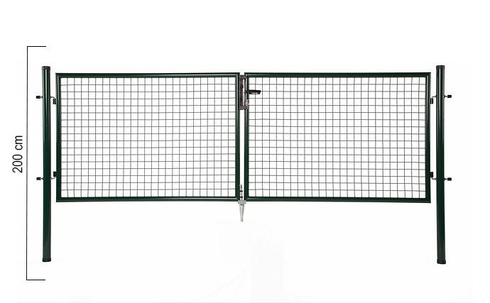 Giardino | Dubbele poort | 200cm | RAL6005 Groen