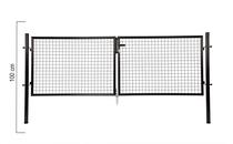 Giardino | Dubbele poort | 100cm | RAL9005 Zwart