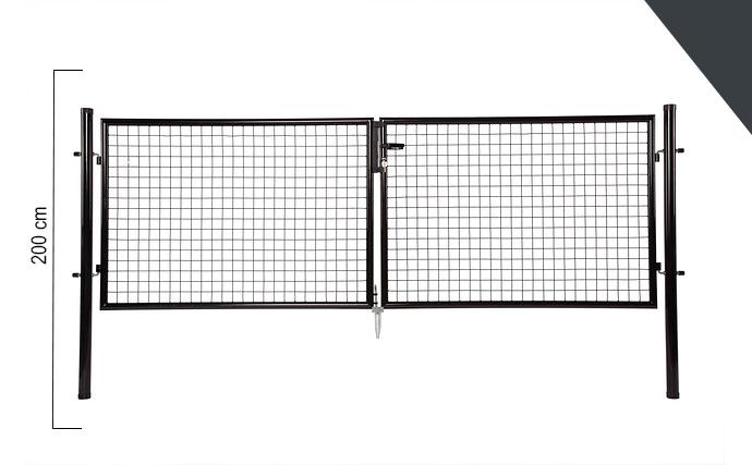 Giardino   Dubbele poort   200cm   RAL7016 Antraciet