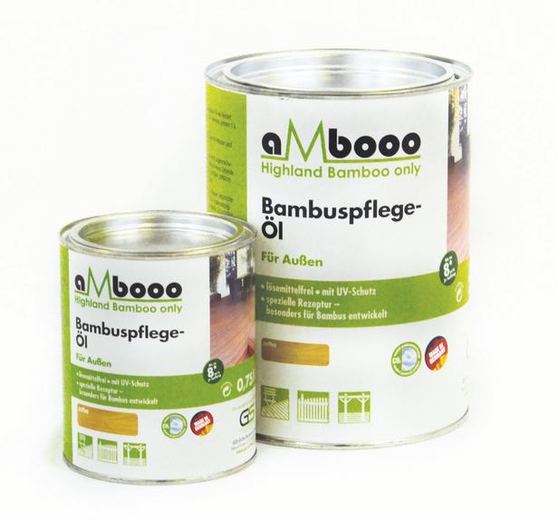 Ambooo | Onderhoudsolie voor bamboe | Coffee | 0.75 liter