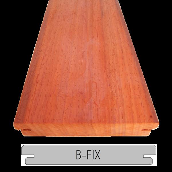 Padouk Terrasplank / vlonderplank   21x145   305cm